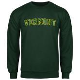 Dark Green Fleece Crew-Arched Vermont