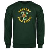 Dark Green Fleece Crew-Field Hockey