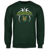 Dark Green Fleece Crew-Basketball in Ball Design