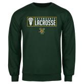 Dark Green Fleece Crew-Lacrosse Helmet Design