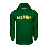 Under Armour Dark Green Performance Sweats Team Hoodie-Arched University of Vermont