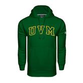 Under Armour Dark Green Performance Sweats Team Hoodie-Arched UVM