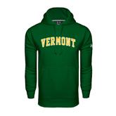 Under Armour Dark Green Performance Sweats Team Hoodie-Arched Vermont
