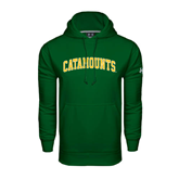 Under Armour Dark Green Performance Sweats Team Hoodie-Arched Catamounts