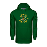 Under Armour Dark Green Performance Sweats Team Hoodie-Track and Field