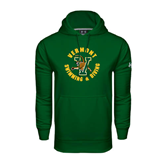 Under Armour Dark Green Performance Sweats Team Hoodie-Swimming and Diving
