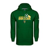 Under Armour Dark Green Performance Sweats Team Hoodie-Soccer Swoosh Design