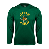 Performance Dark Green Longsleeve Shirt-Hockey