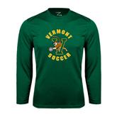 Syntrel Performance Dark Green Longsleeve Shirt-Soccer