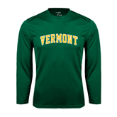 Performance Dark Green Longsleeve Shirt-Arched Vermont
