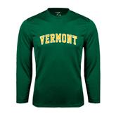 Syntrel Performance Dark Green Longsleeve Shirt-Arched Vermont