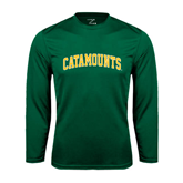Performance Dark Green Longsleeve Shirt-Arched Catamounts