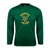 Performance Dark Green Longsleeve Shirt-Skiing