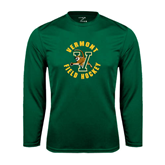 Performance Dark Green Longsleeve Shirt-Field Hockey