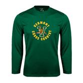 Syntrel Performance Dark Green Longsleeve Shirt-Cross Country