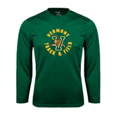 Performance Dark Green Longsleeve Shirt-Track and Field