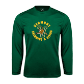 Performance Dark Green Longsleeve Shirt-Swimming and Diving