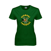 Ladies Dark Green T Shirt-Lacrosse