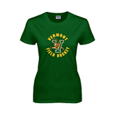 Ladies Dark Green T Shirt-Field Hockey