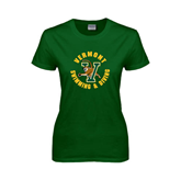Ladies Dark Green T Shirt-Swimming and Diving