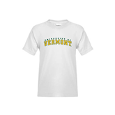 Youth White T Shirt-Arched University of Vermont