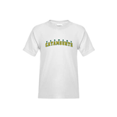 Youth White T Shirt-Arched Vermont Catamounts