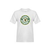 Youth White T Shirt-Vermont Catamounts Circle