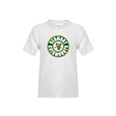 Youth White T Shirt-Vermont Catamounts Circle