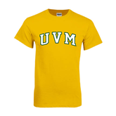 Gold T Shirt-Arched UVM
