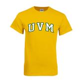 Gold T Shirt-Arched UVM