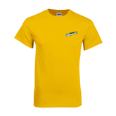 Gold T Shirt-Slanted Vermont Catamounts
