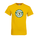 Gold T Shirt-Vermont Catamounts Circle