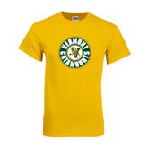 Gold T Shirt-Vermont Catamounts Circle