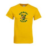 Gold T Shirt-Skiing