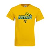 Gold T Shirt-Soccer Swoosh Design