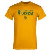 Gold T Shirt-Lacrosse Helmet Design