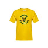 Youth Gold T Shirt-Basketball