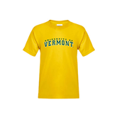 Youth Gold T Shirt-Arched University of Vermont