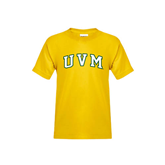 Youth Gold T Shirt-Arched UVM