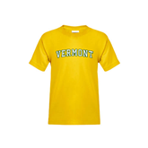 Youth Gold T Shirt-Arched Vermont