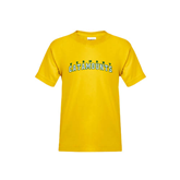 Youth Gold T Shirt-Arched Vermont Catamounts