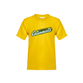Youth Gold T Shirt-Slanted Vermont Catamounts