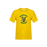 Youth Gold T Shirt-Skiing