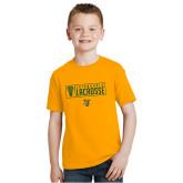 Youth Gold T Shirt-Lacrosse Helmet Design