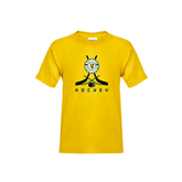Youth Gold T Shirt-Hockey Sticks Crossed Design