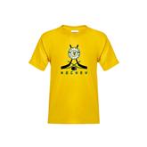 Youth Gold T Shirt-Hockey Sticks Crossed Design