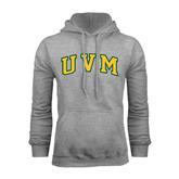 Grey Fleece Hoodie-Arched UVM