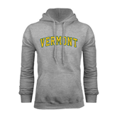 Grey Fleece Hoodie-Arched Vermont