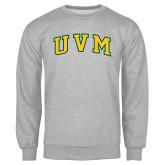 Grey Fleece Crew-Arched UVM