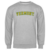 Grey Fleece Crew-Arched Vermont